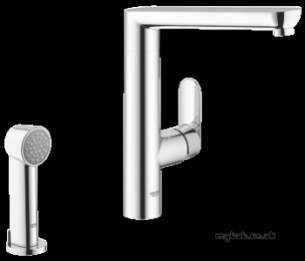 Grohe Kitchen Brassware -  Grohe K7 Sink Mixer And Hand Spray Supersteel