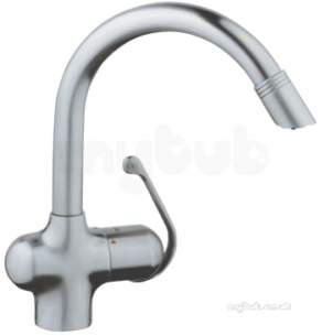 Grohe Kitchen Brassware -  Zedra P/out Spt Single Spray Sink Mixer Ss 33764sd0