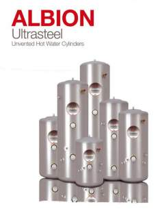 Albion Ultrasteel Unvented Cylinders -  Albion Ultrasteel 180l Indirect Unv Cylinder