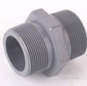 Durapipe Pvc Fittings 1 and Below -  Durapipe Upvc Hex Nipple Bsp 106101 3/8