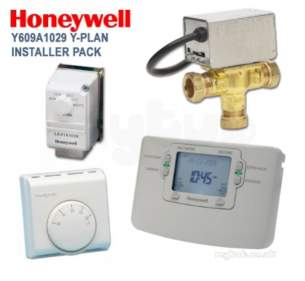 Honeywell Domestic Controls and Programmers -  Honeywell Y609a1029 7 Day Y Plan Pack