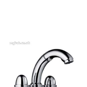 Hansgrohe Brassware -  3th Bath Mixer F Set For 13433-18 Chrome