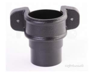 Hunter Foundry Effect Rainwater -  Foundry Effect 68mm D/pipe Coupler Eared