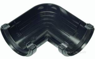 Hunter Plastics Above Ground -  Half Rd 112mm X 120deg Angle R6-b