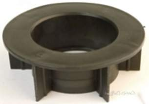 Hunter Plastics Below Ground -  100mm X 68mm Round Black Adaptor Br768