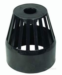 Hunter Plastics Above Ground -  82mm Vent Cowl-balloon Grating S634-g