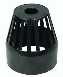 Hunter Plastics Above Ground -  110mm Vent Cowl Balloon Grating S355-g