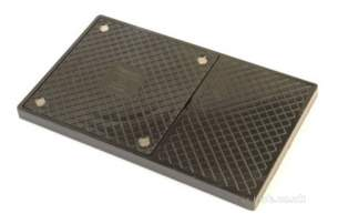 Hunter Plastics Below Ground -  150mm Square Sealed Gully Cover Plt Ds22
