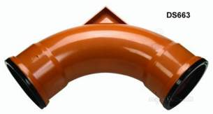 Hunter Plastics Below Ground -  Hunter 110mm X 87.5deg Rest Bend Ds663