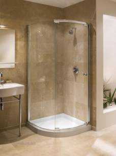 Kohler Daryl Piero Shower Enclosures -  Kohler Daryl Iana Quadrant Slv/cl 900mm L/h