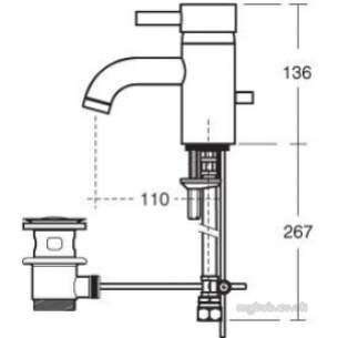 Ideal Standard Sottini Brassware -  Ideal Standard Alchemy E1950 Single Lvr Basin Mixer Cp