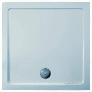 Trevi Showerworld Shower Trays -  Ideal Standard Idealite L6240 Tray 760 X 760 Lp Ft White