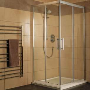 Trevi Shower Enclosures -  Ideal Standard Synergy L6273 Cnr Entry Rh 900mm Sil Clr