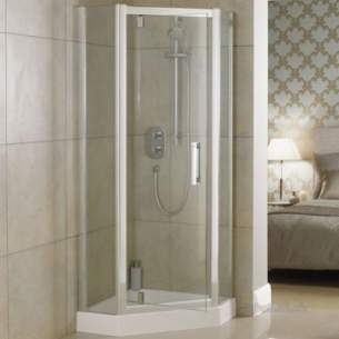 Trevi Shower Enclosures -  Ideal Standard Synergy L6231 Penta Panel 800mm Sil Clr