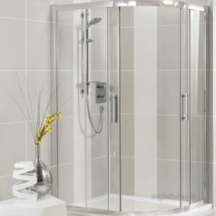Trevi Shower Enclosures -  Ideal Standard Synergy L6276 Quad Fxd Pnl 800mm Sil Clr