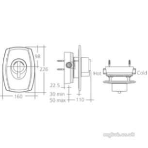 Ideal Standard Showers -  Ideal Standard Trevi Outline Ctv A3097 Bi Shower Valve Cp