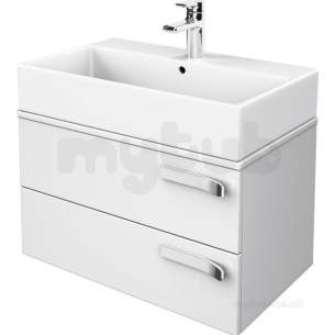 Ideal Jasper Morrison Strada Soft Mood Furniture -  Ideal Standard Strada 700 Basin Unit 2 Draw And Wtop Gls Wh K2455wg