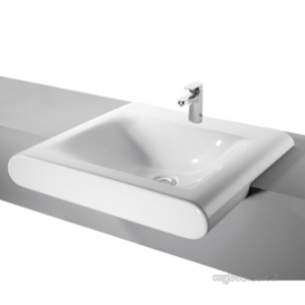 Ideal Standard Art and Design -  Ideal Standard Moments K0720 580mm One Tap Hole Semi-countertop Basin Wh