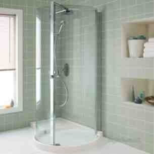 Ideal Standard Acrylic Shower Trays -  Ideal Standard Serenis 360 L8384 Corner Wetroom Pack