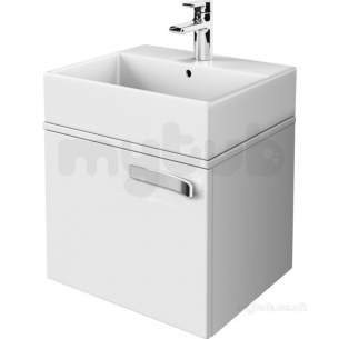 Jasper Morrison Strada Furniture -  Ideal Standard Strada 500 Basin Unit 1 Draw And Wtop Gls Gr