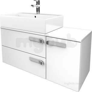 Jasper Morrison Strada Furniture -  Ideal Standard Strada 1050 Combi 2dwr And Rh Dr And Wt Gls Wh