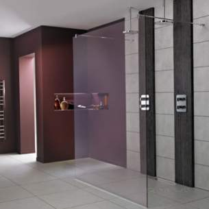 Trevi Shower Enclosures -  Ideal Standard Synergy L6220 Wetroom Pnl 700 Sil Clear