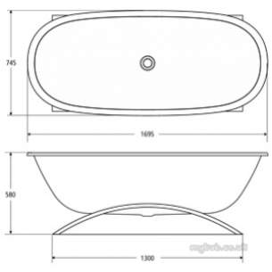 Ideal Standard Art and design Baths -  Ideal Standard The Bath E2001 1700 X 700mm Bath Inc Puw Wh