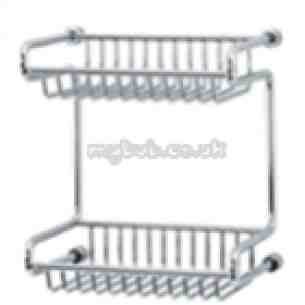 Triton Metlex Bathroom Accessories -  Mercury 9016s 200mm 2-tier Wire Rack Cp
