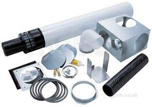 Worcester Oil Boilers -  7716190043 White Oilfit 100 /150 Standard Rs Flue Kit