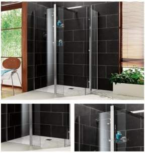 Impey Wetrooms Systems -  700mm Aqua-screen 1 Ch Pln Gl End Screen