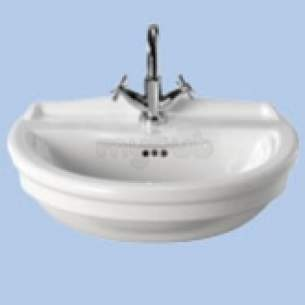 Twyford Integrity Sanitaryware -  Integrity 550 Sr Basin 1 Tap Inc Fxgs Iy4641wh