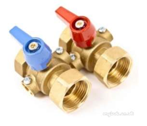 Underfloor Heating Manifolds and Ancillaries -  Polypipe 1 Inch Isolation Valves Pair