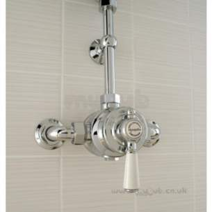 Mira Showers -  Mira Montpellier 437.21 8 Inch Mixer Shower Chrome Plated