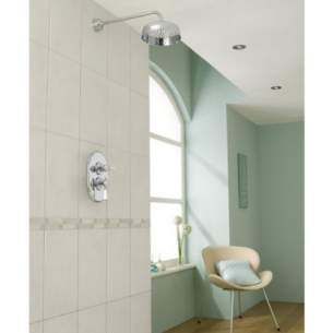 Mira Showers -  Mira Crescent 437 24 6 Inch Mixer Shower Cp