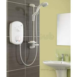 Mira Showers -  Mira Zest Electric Shower 8.5 Kw White Chrome Plated
