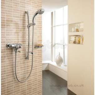 Mira Showers -  Mira Fino Ev Thermo Shower Mixer And Kit Cp