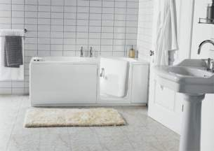 MyCare Less Able Bathing -  Easy Access Ultra Walk In Bath Rh Inc Front Panel White