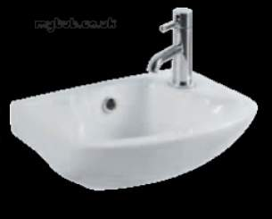 Eastbrook Sanitary Ware -  27.0381 Kompact Cloakroom Basin One Tap Hole Right Hand Wh
