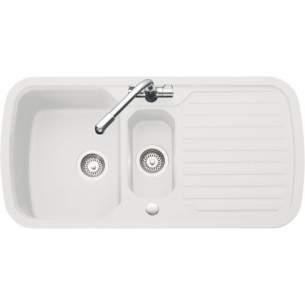 Rangemaster Sinks -  Highlight Velstra Vhl2 980x508 1.5bsd Wh