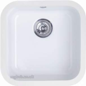 Astracast Sinks And Accessories -  Lincoln 4040 Main Bowl Undermount Wh