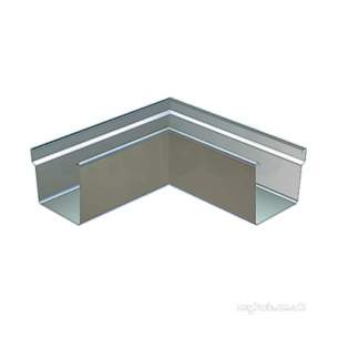 Lindab Rainwater -  Rect Ext Gtter Angle 136mm 90o Coated