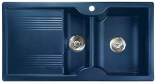 Rangemaster Sinks -  Rangemaster Lunar 985508 15b Regal Blue