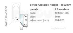 Showerlux Bath Screen -  Showerlux Swing Classico Shower Screen Slv/clr