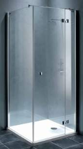 Showerlux Classic Enclosures -  Classic Hinged Door 500mm And Side Panel Lh