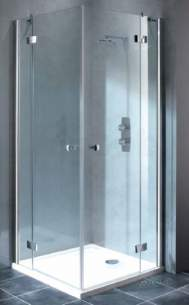Showerlux Classic Enclosures -  Classic Hinged Door 500mm Corner Entry