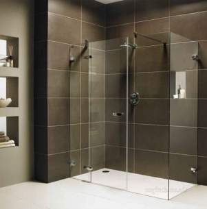 Showerlux Designa Showers -  Designa 800mm Glass Dr For Side Pnl
