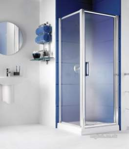 Manhattan Shower Enclosures -  Manhattan M3-760mm Hinged Door Sl/cl