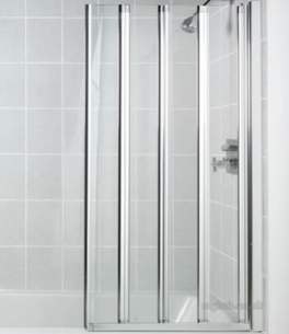 Manhattan Shower Enclosures -  M3-4 Panel Swiftseal Bathscreen Ch/cl
