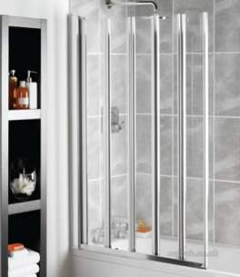 Manhattan Shower Enclosures -  M3-5 Panel Swiftseal Bathscreen Ch/cl