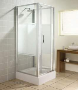 Manhattan Shower Enclosures -  Manhattan M3-760mm Bifold Door Sl/cl